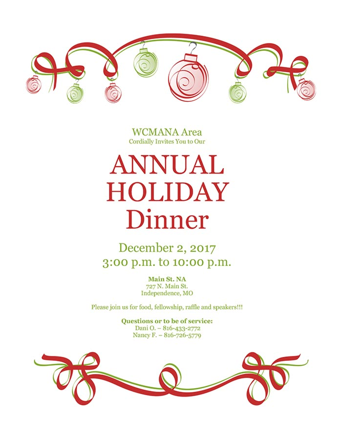 West Central Holiday Dinner, Dec 2nd 2017