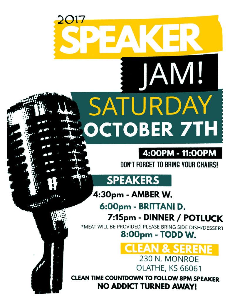C&S – Speaker Jam, Oct 7th, 2017