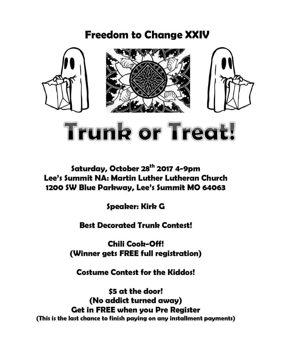 FTC XXIV, Trunk or Treat, Oct 28th, 2017